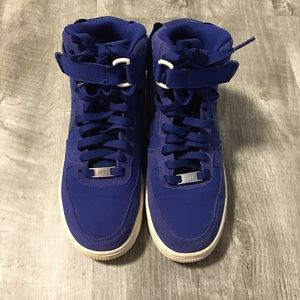 Nike Airforce 1 Royal Blue Canvas Sneakers Boys